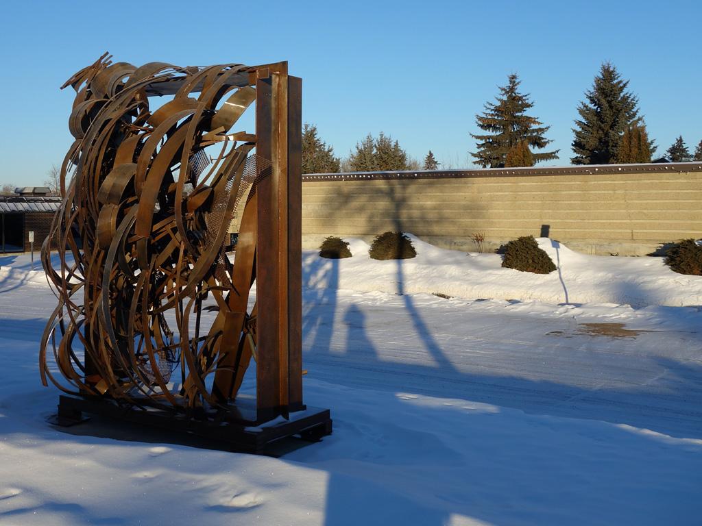 public art, garden window