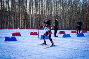 13-year-old cross country skiier, Maddy