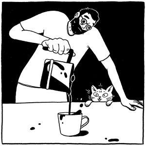 In case you were wondering, Omar takes his coffee black