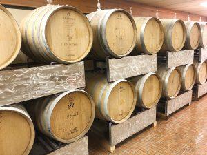 Barrels containing Trial & Ale's complex fermentation process