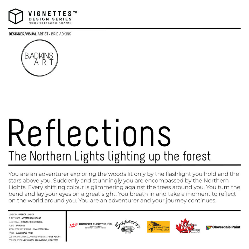 Reflections: The Northern Lights lighting up the forest