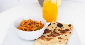 Chicken suqaar, sabaayad and housemade mango juice Ed Eats Article