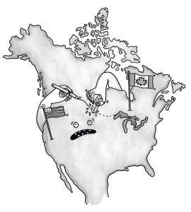 City_Canada&USAMap_HandsRewritingBorder_Illo