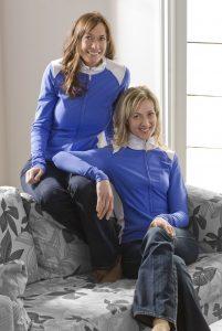 Cori and Bobbi blue jackets