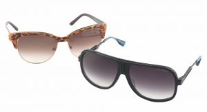 Hit the road in style together with fabulous sunglasses from Women With Vision Opticians Inc. TheDita Exeter sunglasses (right) for him is $616 and features a full titanium rim and temples. For her? Roberto Cavalli's Melograno sun peepers are $514. (10515 109 St.,780-423-3937)