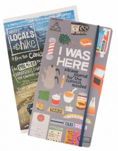 3. Trek all the hotspot trails in the Rockies with help from this handy guide, Where Locals Hike ($28.95), and then write about your adventures in the I Was Here journal ($19.95). Both are for sale at Chapters. (3227 Calgary Trail, 780-431-9694, and several other locations).