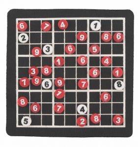 Keep your passengers - big and small - entertained with Kikkerland's  Magnetic Sudoku ($9.95) from The Map Depot. (10344 105 St., 780-429-2600)