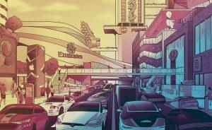 ElectricCars_BusyTraffic_CMYK_Illo