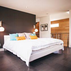 Bedroom of the Barbour home, Edmonton; art by Glen Ronald