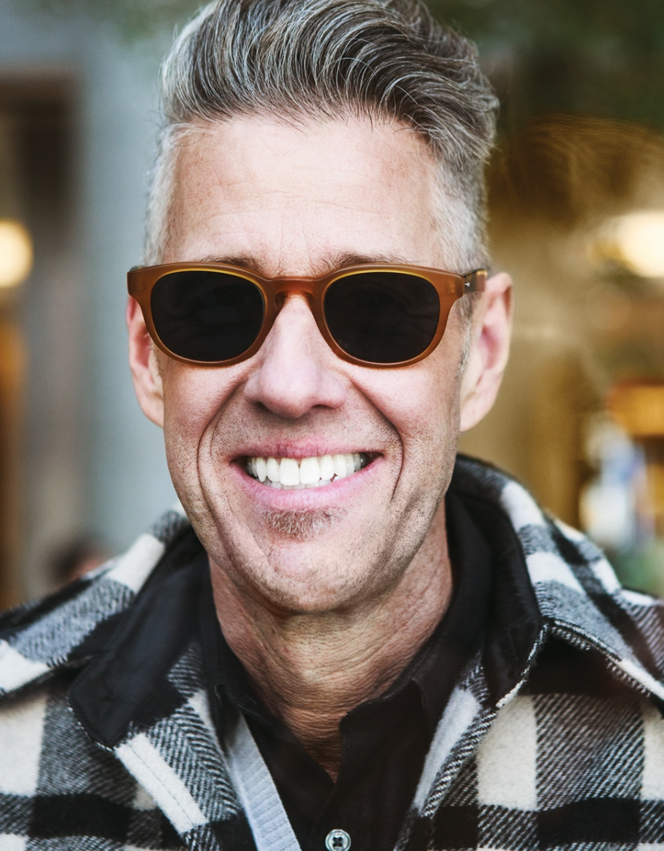 Fidelity Jacket from BoysCo (Vancouver), Barton Perreira sunglasses from Smith and Wight Opticians