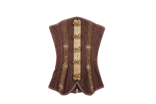 With hardware that rivals Doctor Who's time machine, this corset ($295) from Sanctuary Curio Shoppe fits right in with things that go bump in the night. (10310 81 Ave., 780-944-2654)