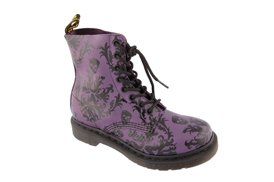 These Cassidy boots ($175), by and from Dr. Martens, have a charming skull motif and come in black, cherry and purple. (West Edmonton Mall, 780-760-6020)
