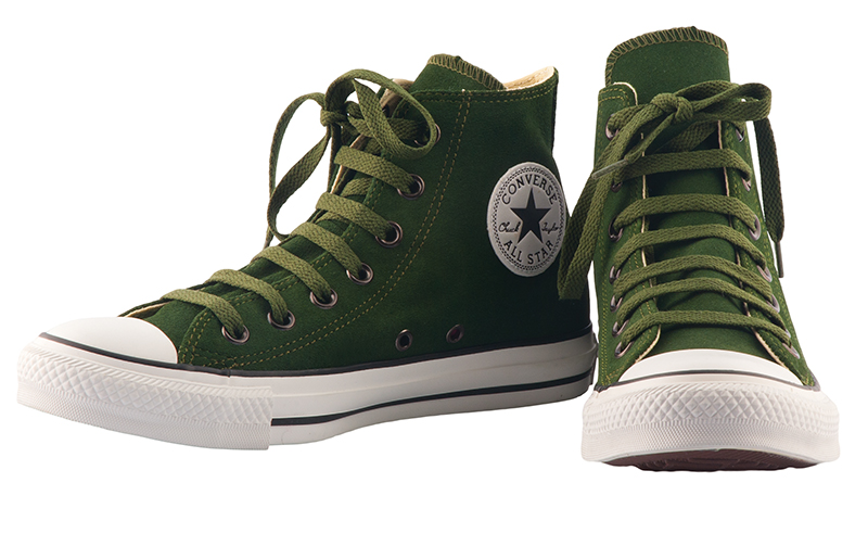 Converse suede shoes in Kombu green, $75, gravitypope. (10442 82 Ave., 780-439-1637)