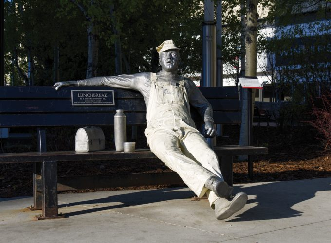 "Conversation Piece: ""Lunchbreak"" by Seward Johnson"