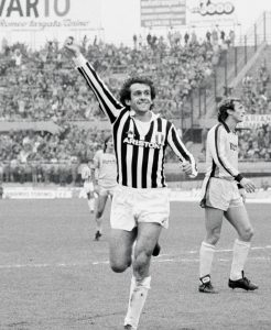 Image of Juventus great Michel Platini from Black and White Stripes: The Juventus Story; Photo supplied