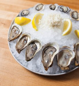 Cold oysters