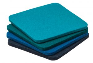 Bavarian felt coasters, $25 set of 4 (assorted colours), from The Artworks.