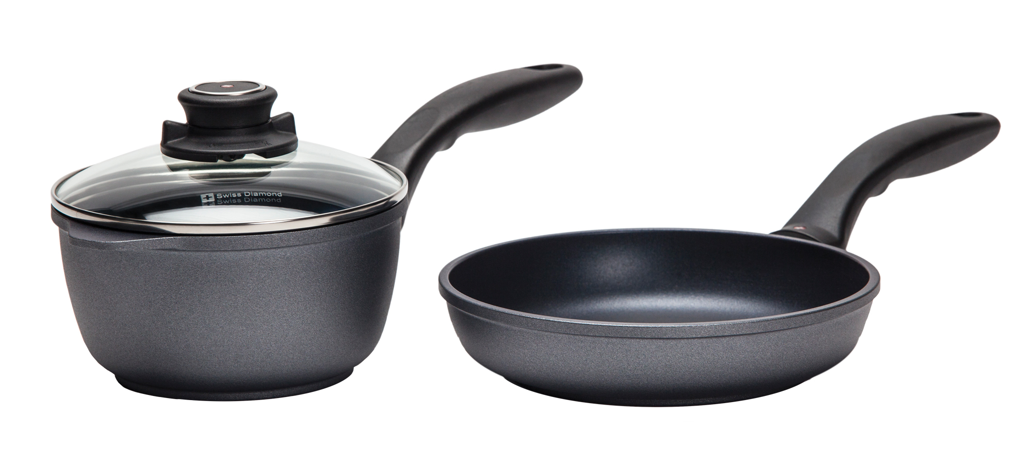 Swiss Diamond frying pan and sauce pot set, $290, from Hillaby's Tools for Cooks. (The Enjoy Centre, 101 Riel Dr., St. Albert, 780-651-7373)