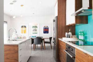 Cabinets, backsplash and counter from Waygood's Kitchens