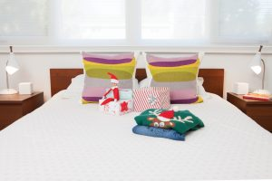 Lamps, vase and duvet cover from Home Sense