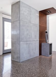 Concrete home interior