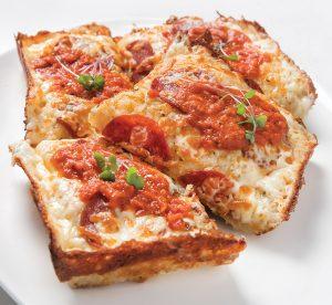 Classic pepperoni Detroit-style pizza