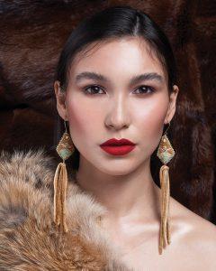 FemaleModel_Furs_IndigenousEarrings