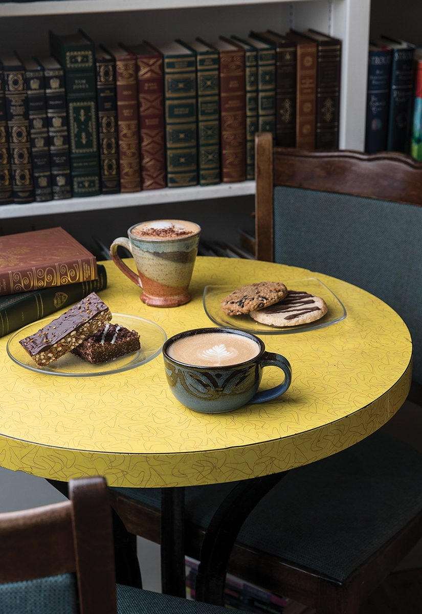 Cozy Cafe: Mandolin Book & Coffee Co    Avenue Edmonton