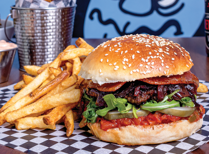 If You're Craving A Delectable Burger, Try Woodshed Burgers