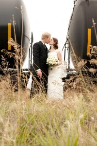 Wedding of Steve and Grace Poplawski, kiss