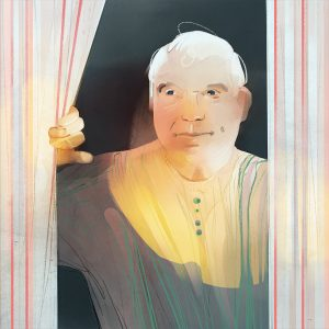 Michael Houghton at window