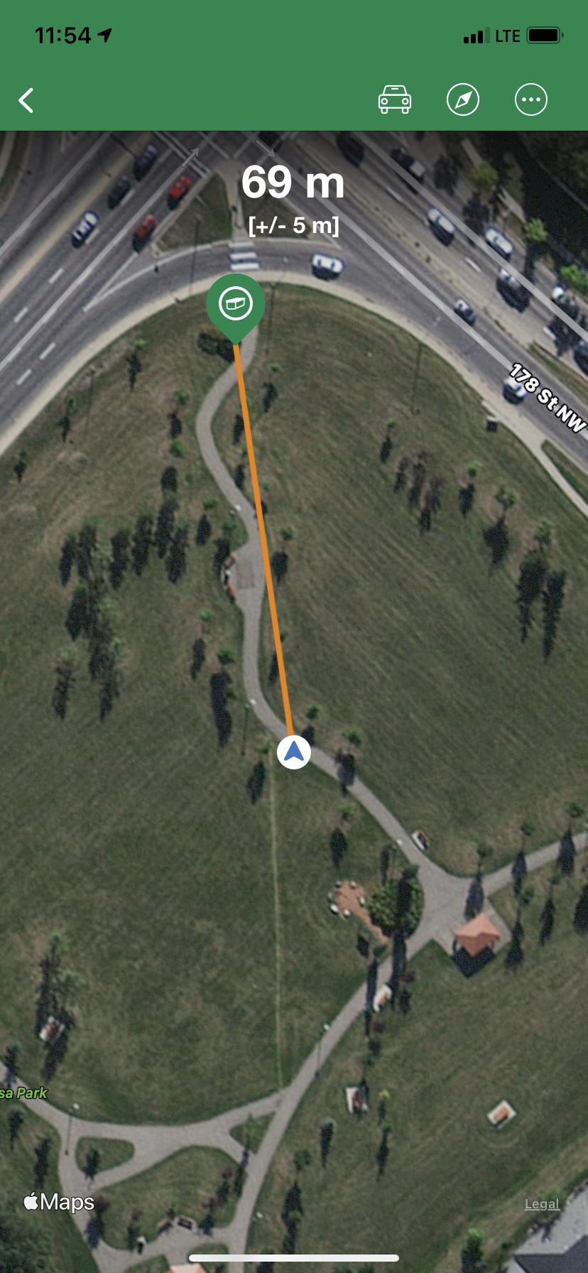 GPS image at 178 St. & 95 Ave.