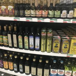 The wall of olive oil