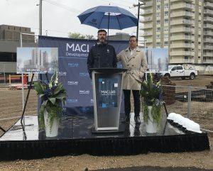 Maclab Sod Turning Ceremony, Mayor Don Iveson and Bill Blais