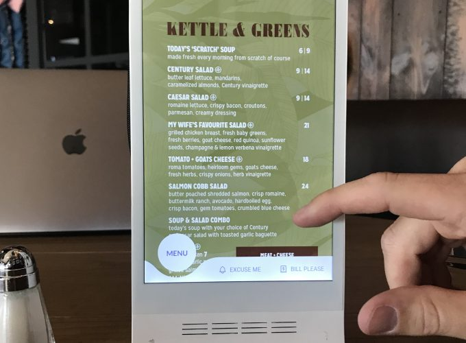 Scroll, Order, Dine and Pay