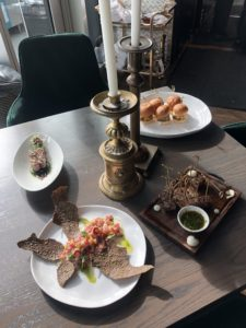 Food offerings at Alchemy