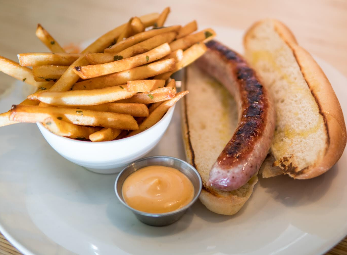 Eat This Now: A Cheesy Signature Bratwurst