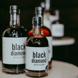 Black Diamond Distillery, bottles