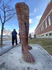 Cast-iron 9 foot tall sculptures in Edmonton