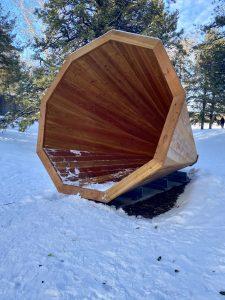 A giant cedar megaphone
