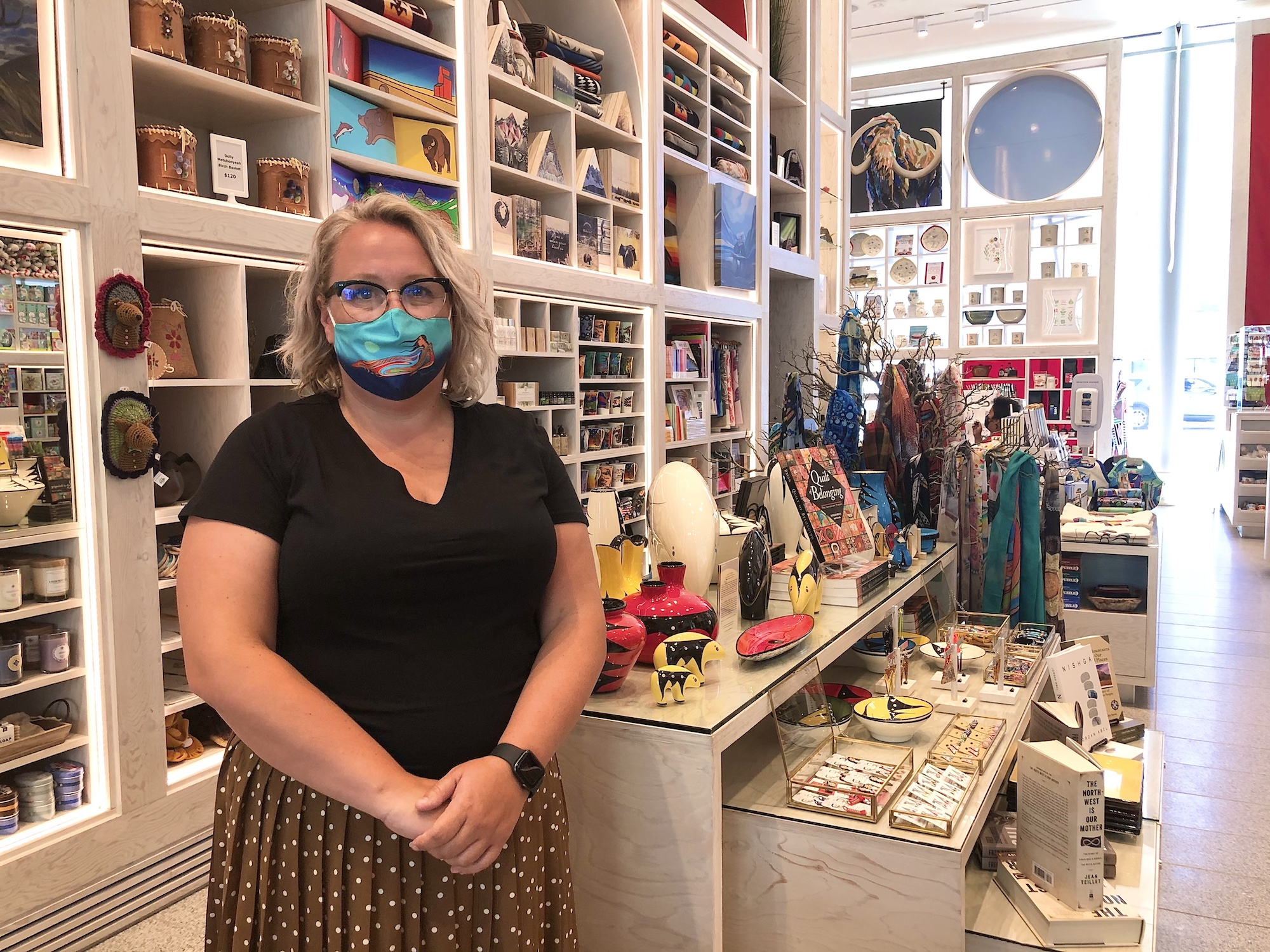 Orissa Sabourin, museum shop coordinator at the Royal Alberta Museum