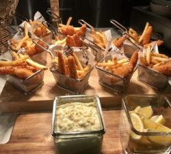 Fish-and-chip baskets at Rogers Place.