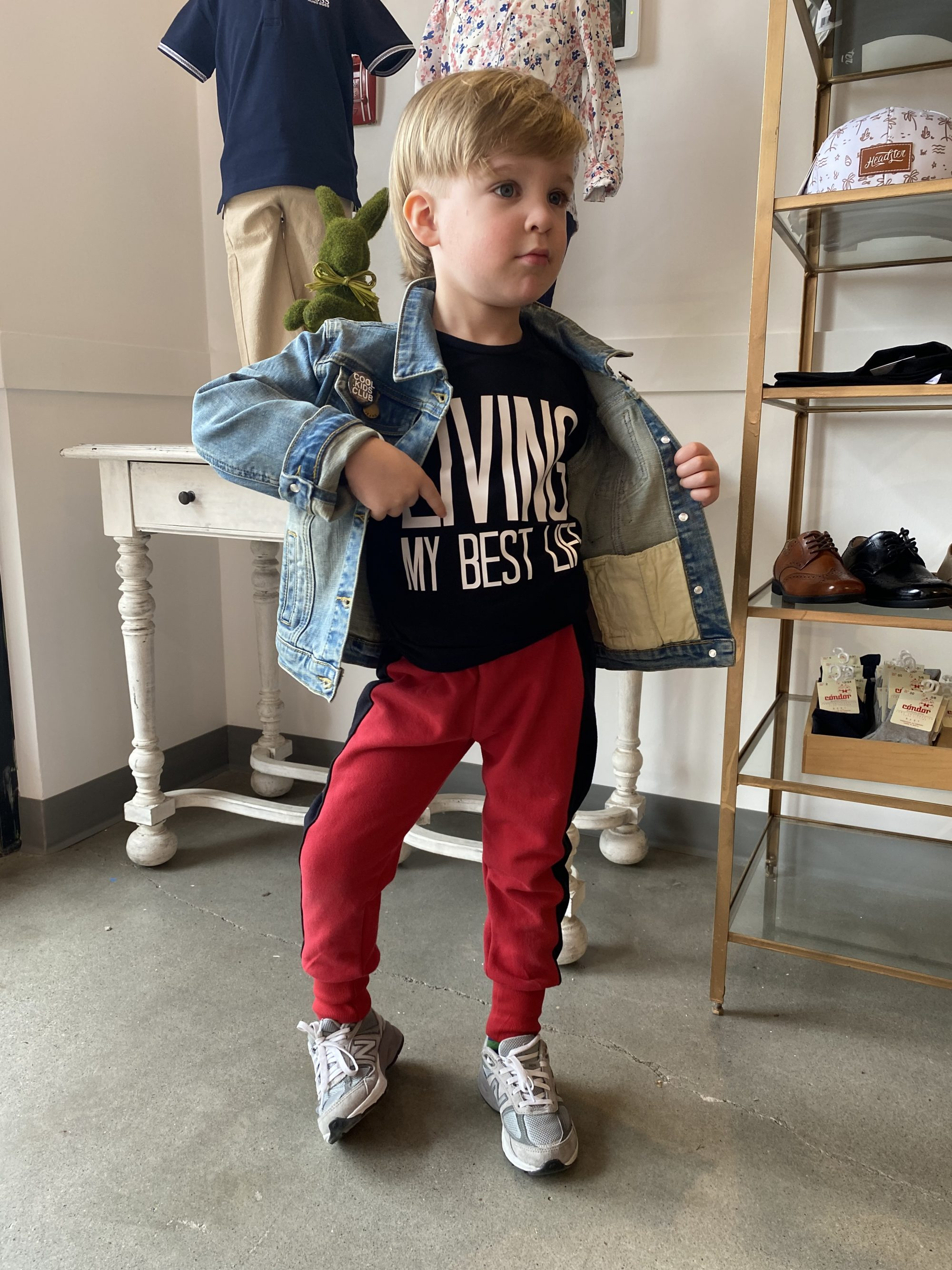 Toddler wearing an outfit by Wee Monster based in L.A.