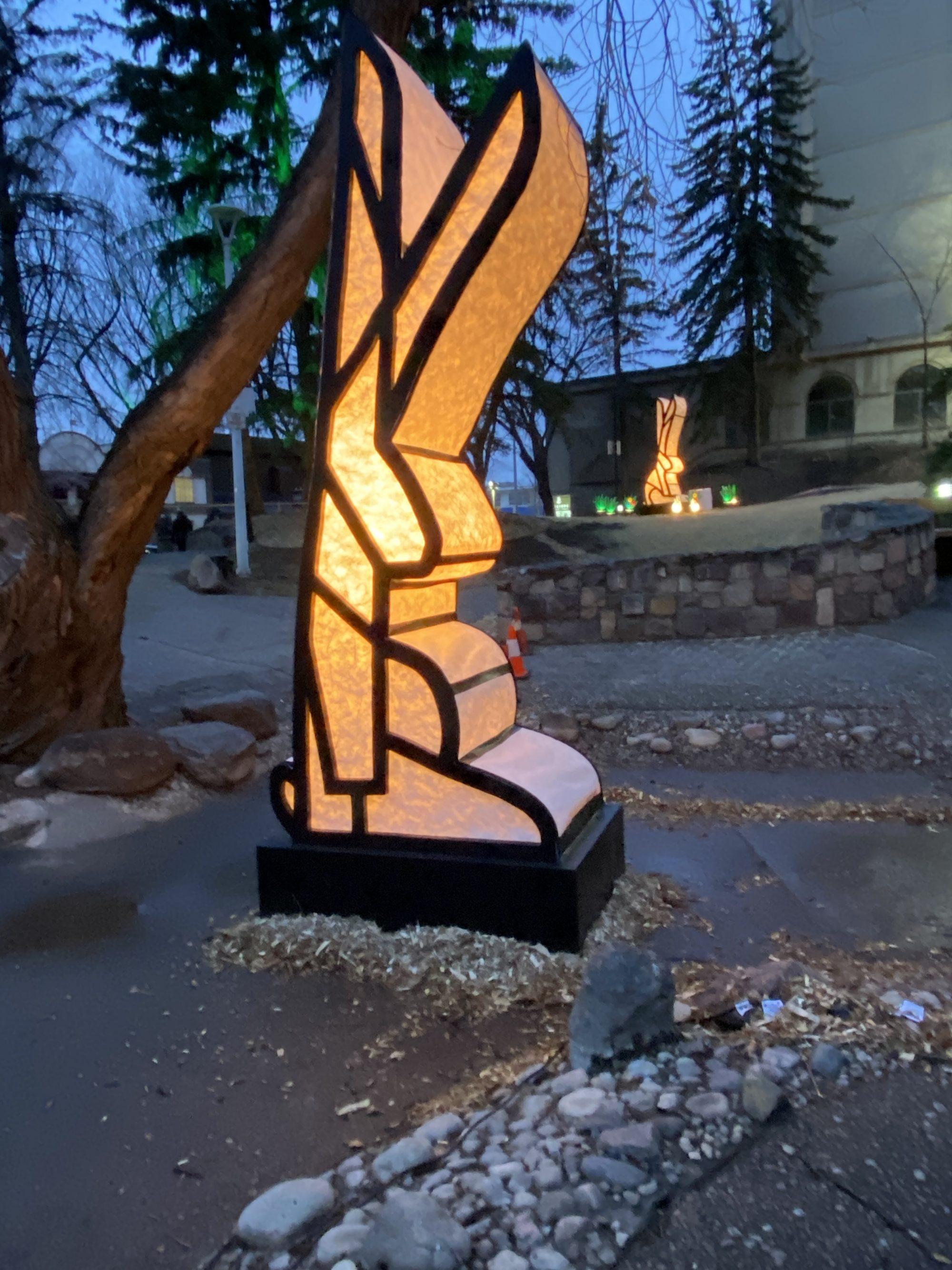 A chubby rabbit sculpture