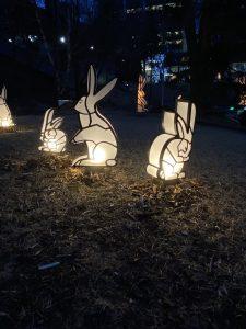 small rabbit sculptures