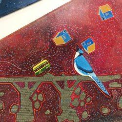 Artist Ricardo Copado's work at  the Stanley A. Milner Library in Edmonton