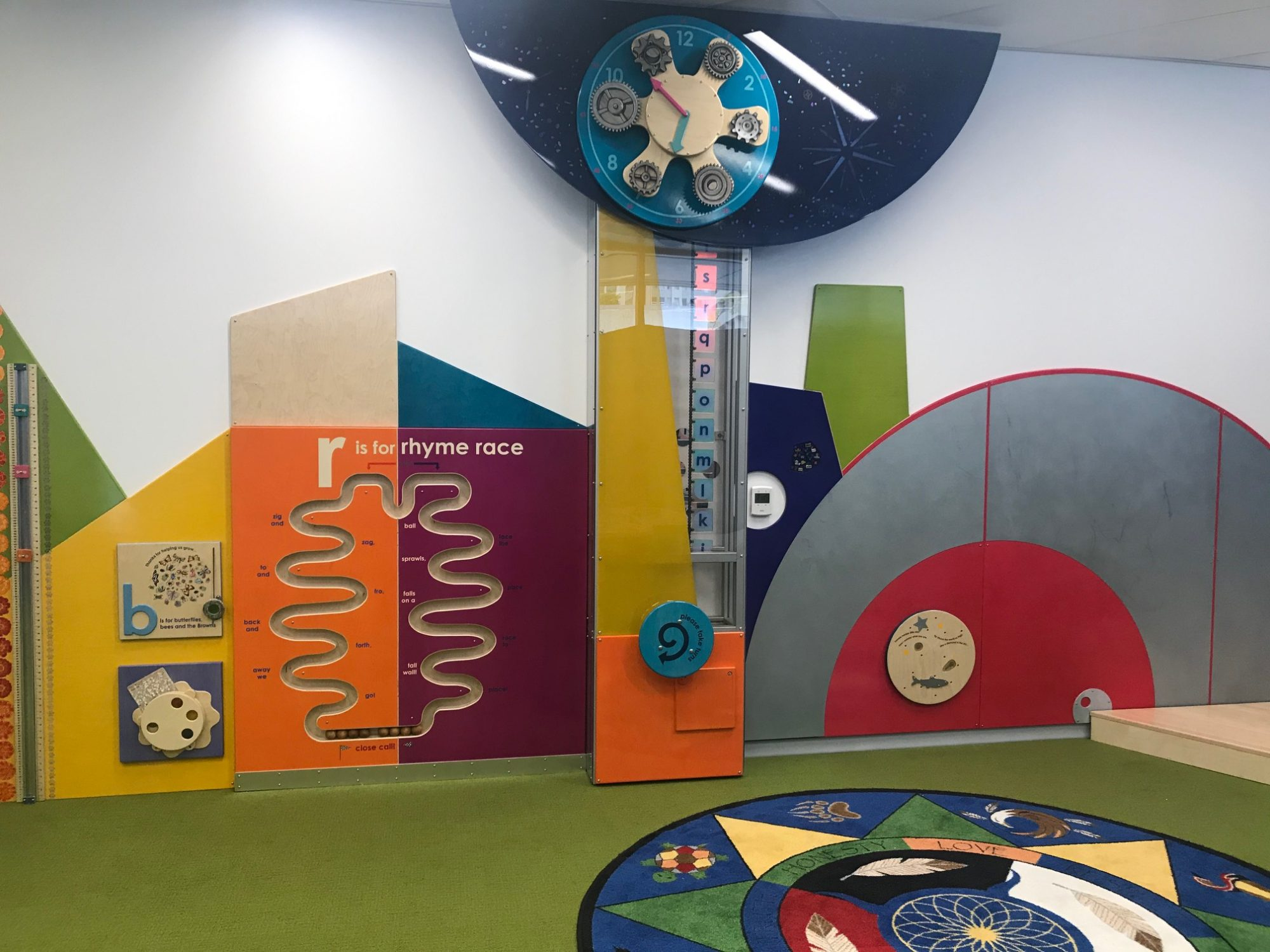 Children's play area at the Stanley A, Milner Library, Edmonton,