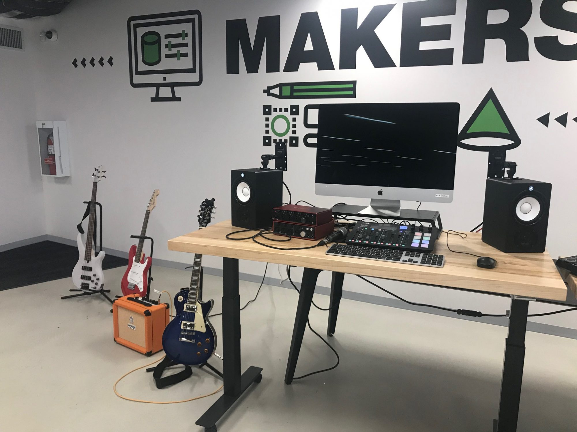 MakerSpace guitars  at the Stanley A, Milner Library, Edmonton,