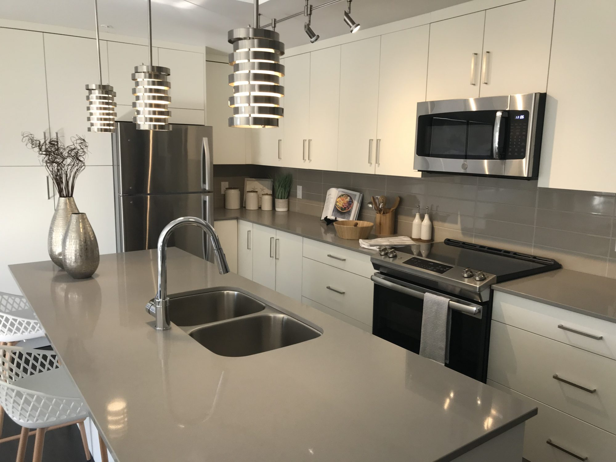 Kitchen filled with modern amenities