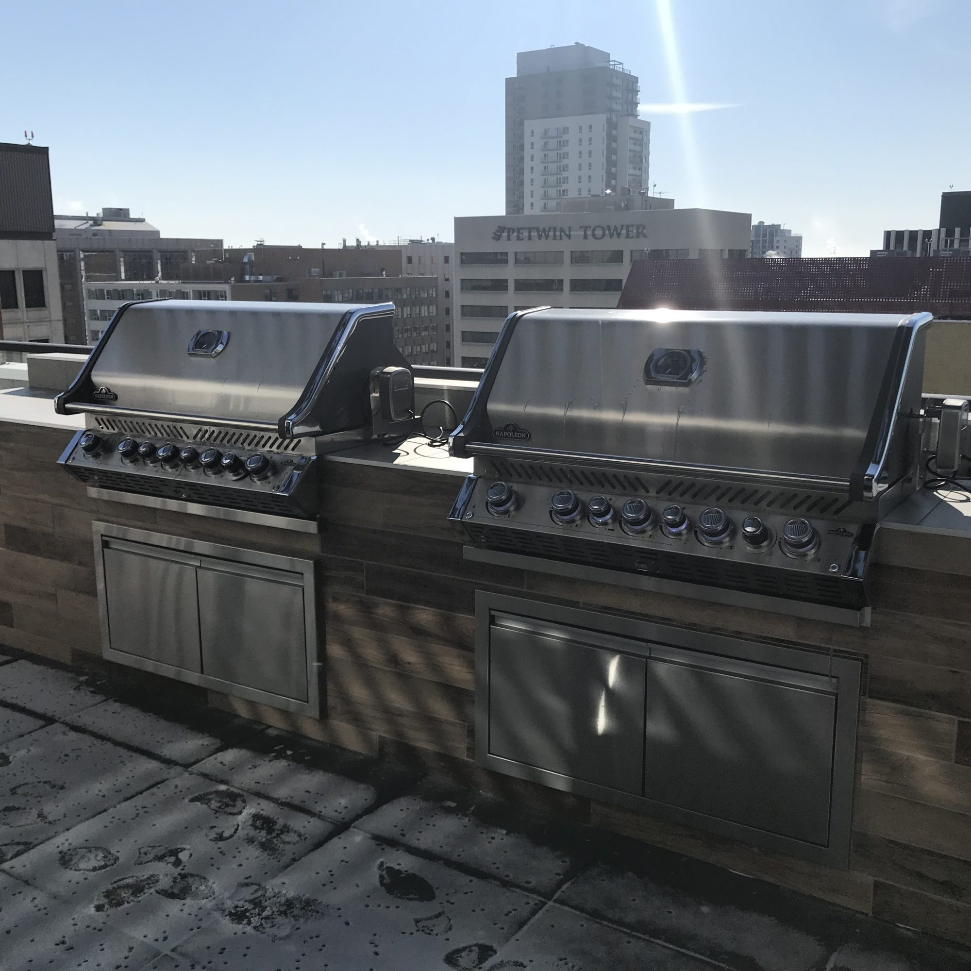 Rooftop grilling area